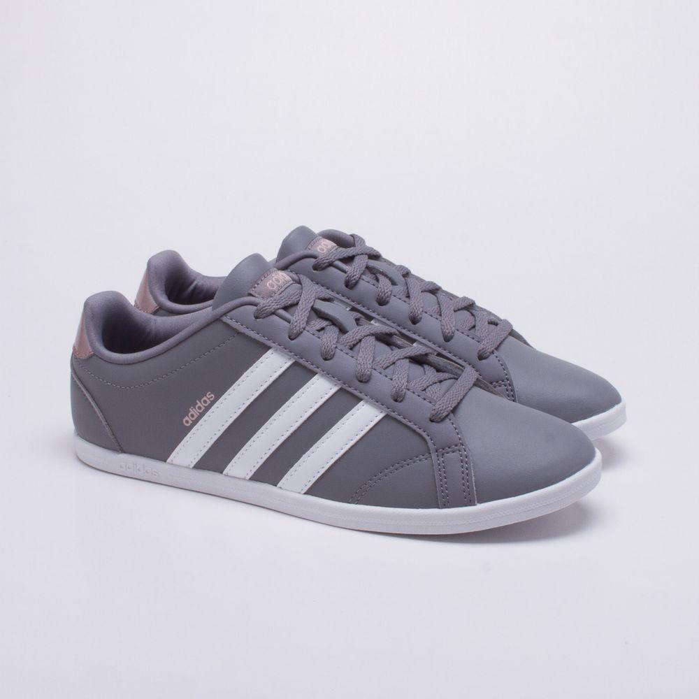 Tênis Adidas VS Coneo QT Cinza Feminino Cinza e Branco - Gaston ... bc5609c14899c