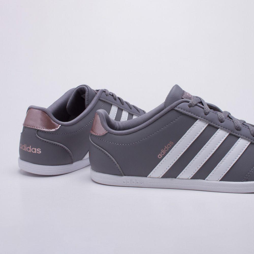 91668869153 Tênis Adidas VS Coneo QT Cinza Feminino Cinza e Branco - Gaston - Paqueta  Calçados