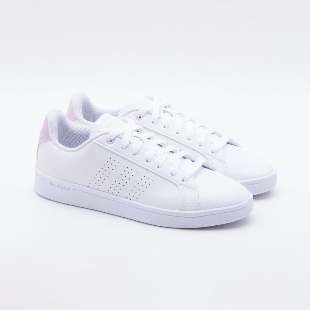 fed3c1312c Tênis Adidas CF Advantage Clean Branco Feminino Branco - Gaston ...