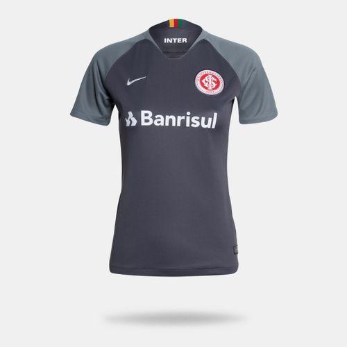 6bb7f5a52e Camisa Nike Internacional 2018 2019 III Torcedor Cinza Feminina