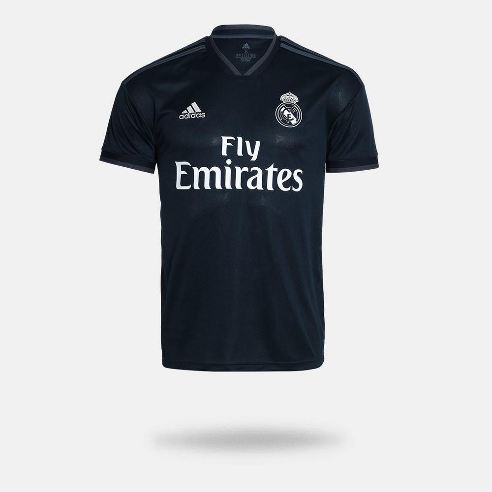 8b9c167be5d02 Camisa Adidas Real Madrid II 2018 2019 Torcedor Preta Masculina ...