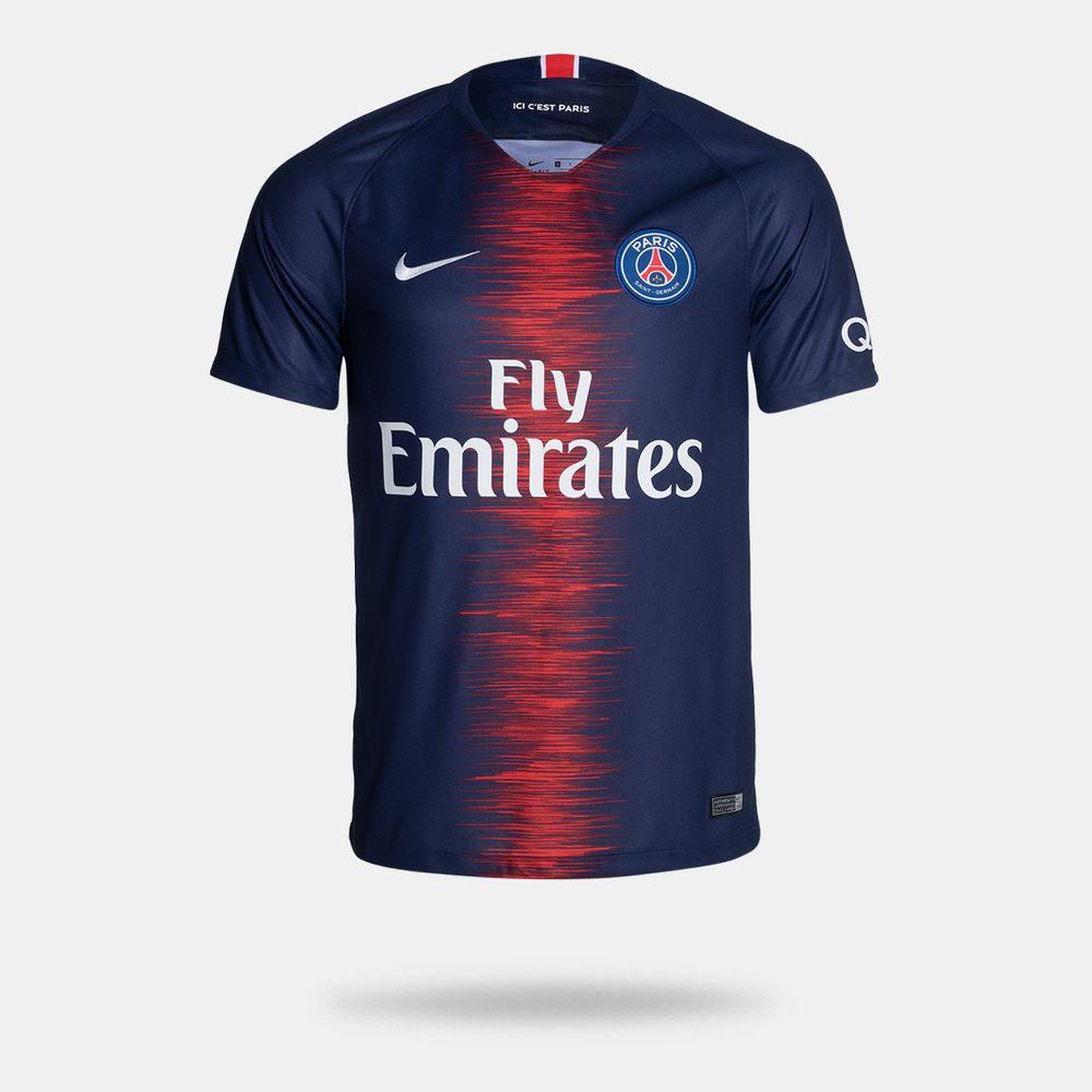 b55fac4c4 Camisa Nike PSG I 2018 2019 Torcedor Masculina Azul - Gaston ...