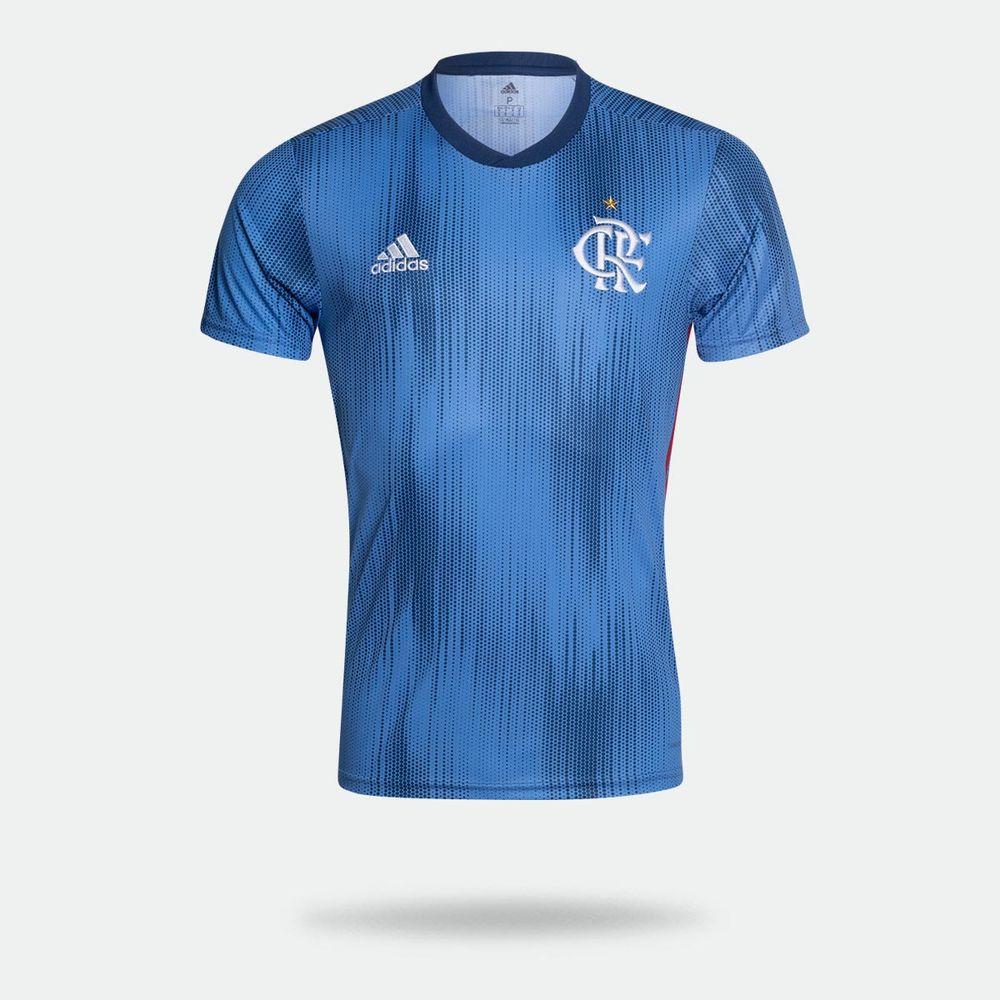Camisa Adidas Flamengo III 2018 Azul Masculina Azul - Gaston ... c3df5c52296cf