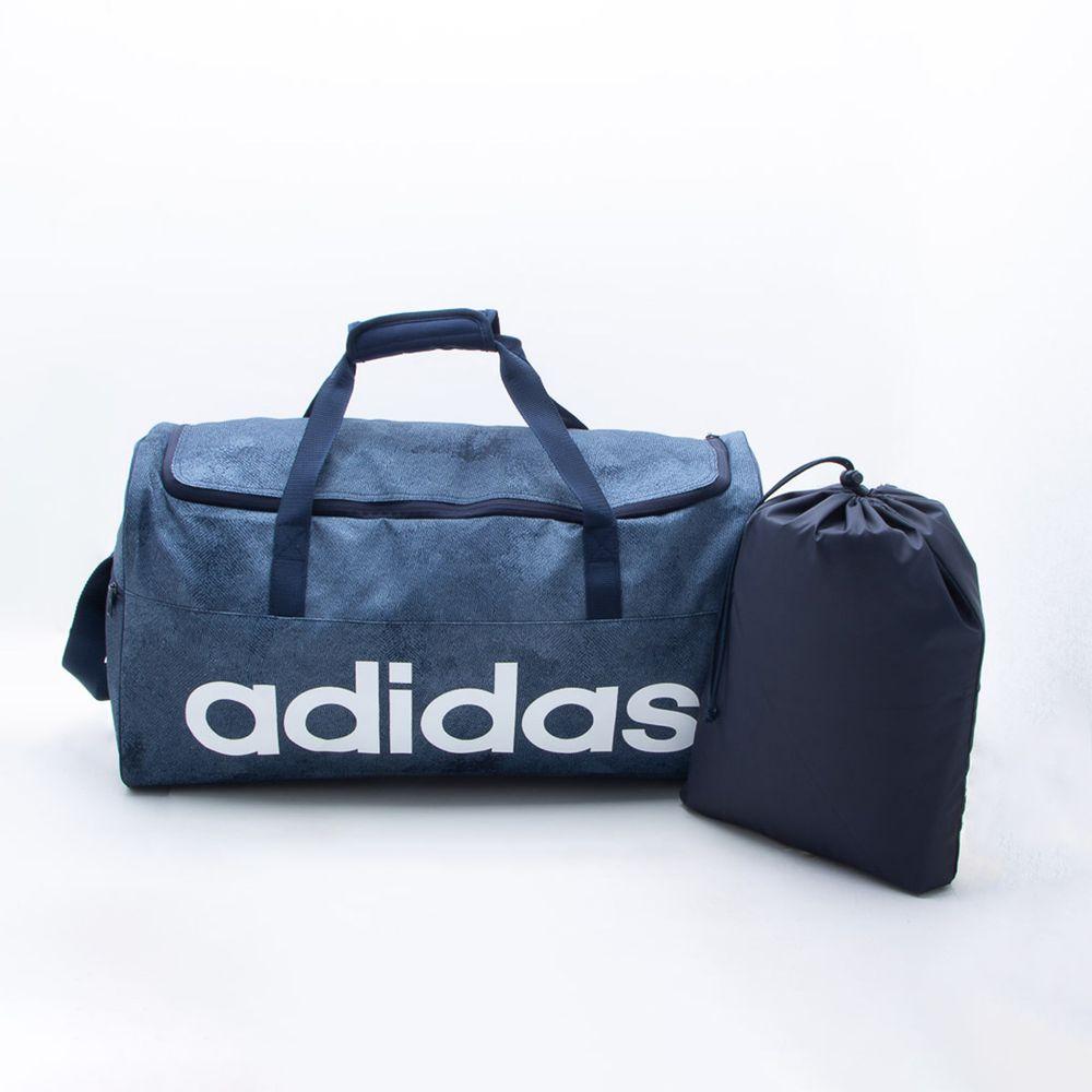 f7cae76a2fc603 Bolsa Adidas Linear Performance Azul Azul jeans e Branco - Gaston ...