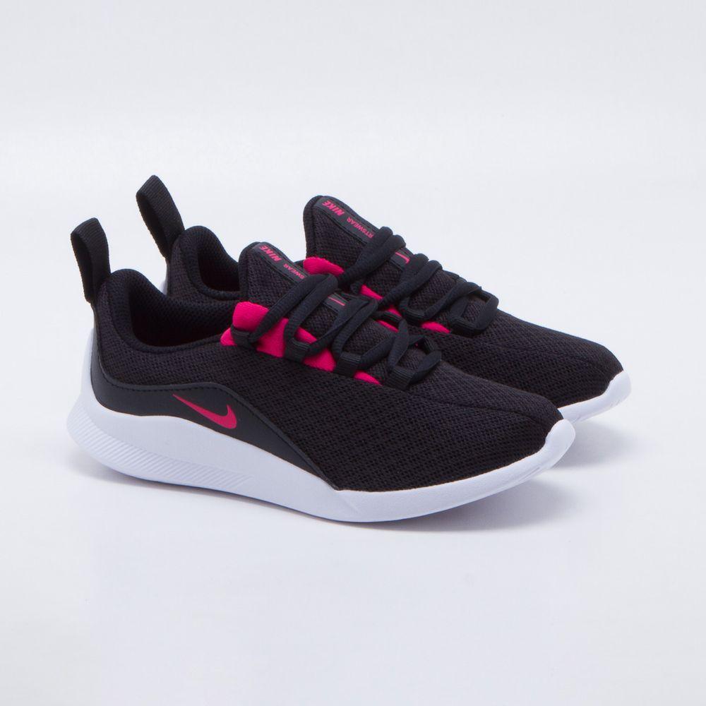 8a0f17a645d Tênis Nike Viale Infantil Preto Preto e Rosa - Gaston - Paqueta Esportes