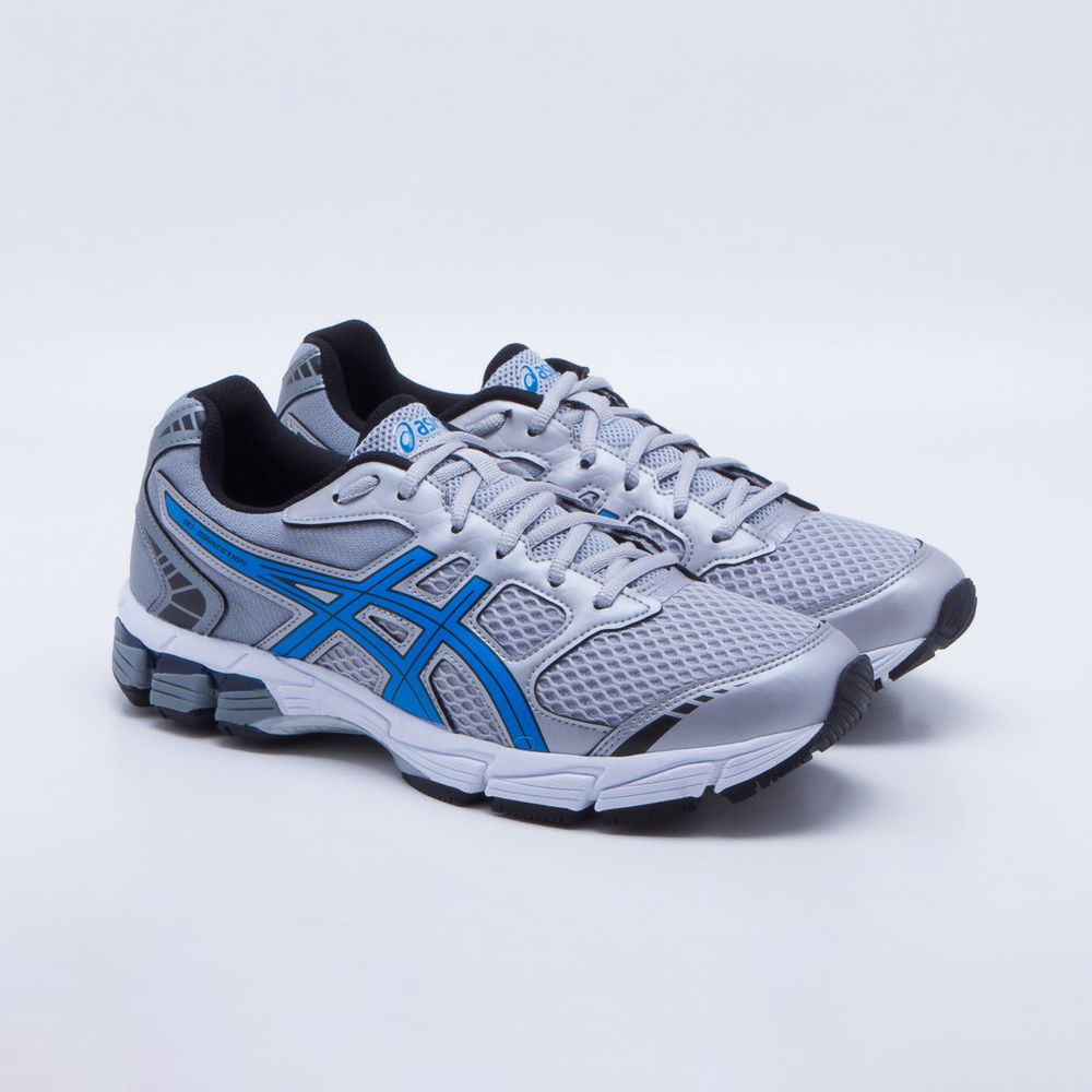 3a8763a8d1 Tênis Asics Gel Connection Masculino Cinza e Azul - Gaston - Paqueta ...