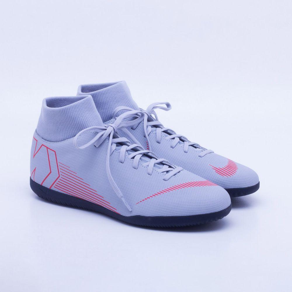 e3927b852e Chuteira Futsal Nike MercurialX Superfly 6 Club IC Cinza e Vermelho ...