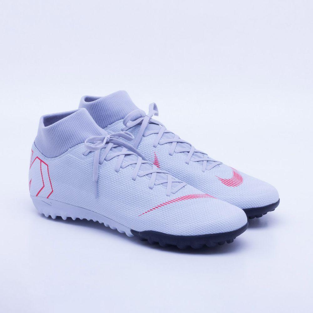 7aa9cc7696 Chuteira Society Nike MercurialX Superfly 6 Academy TF Cinza e ...