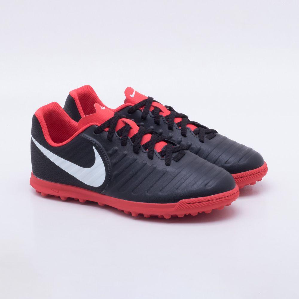 4b99ae0f5a3bb Chuteira Society Nike TiempoX Legend 7 TF Infantil Preto e Vermelho ...
