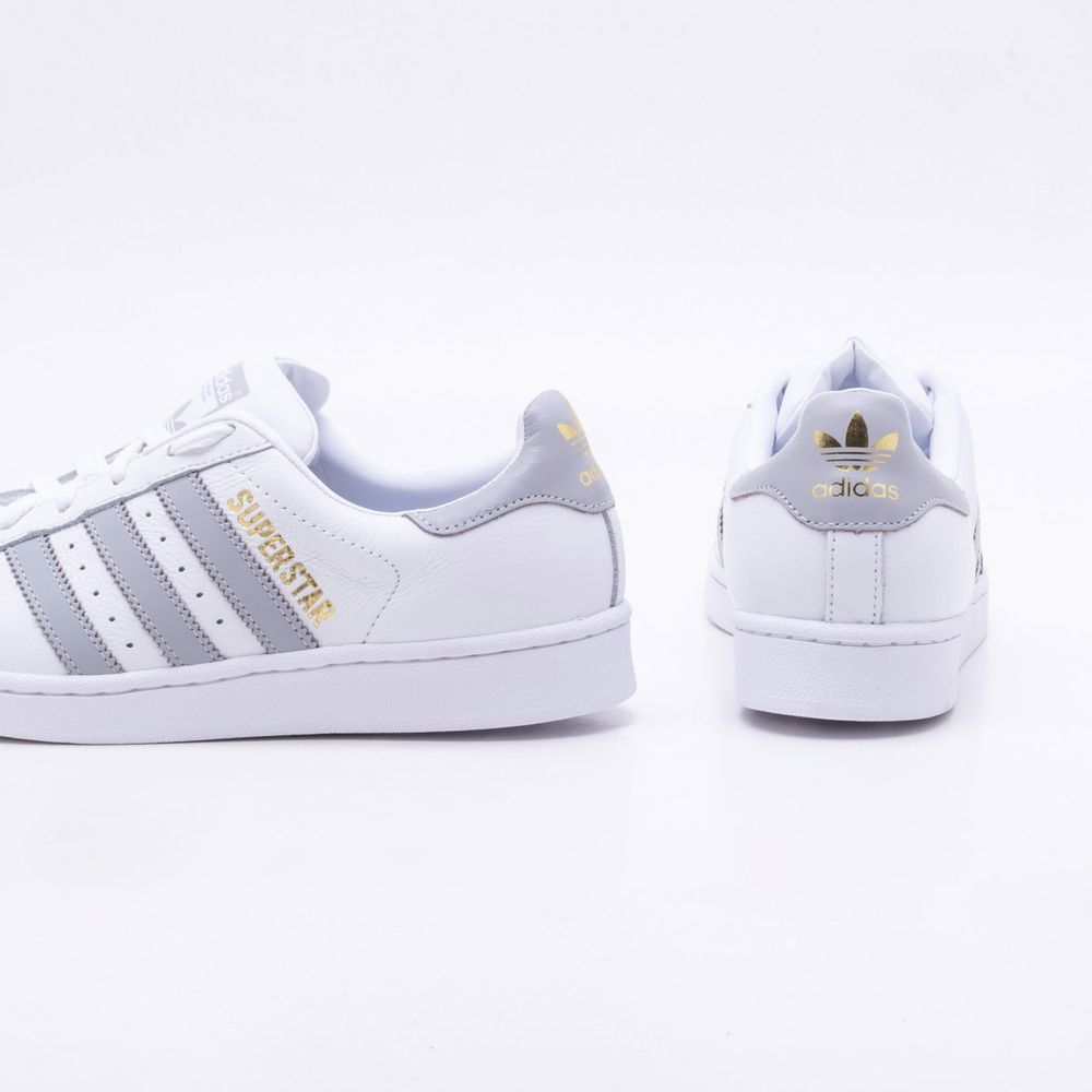 7c522a32bc501 Tênis Adidas Superstar Originals Branco Feminino Branco - Gaston ...