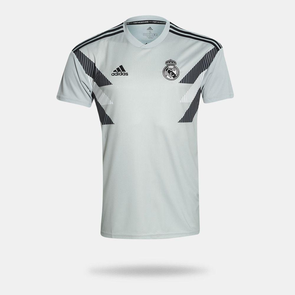 Camisa Adidas Real Madrid 2018 2019 Pré Jogo I Cinza Masculina Cinza ... 1a5f7e808c0e9