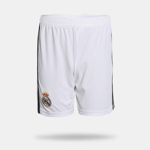 Calção Adidas Real Madrid I 2018 2019 Branco Infantil 675d2d4edb12b