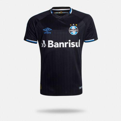 aa5c8fbd7 Camisa Umbro Grêmio 2018 III Com Número Torcedor Preta Masculina