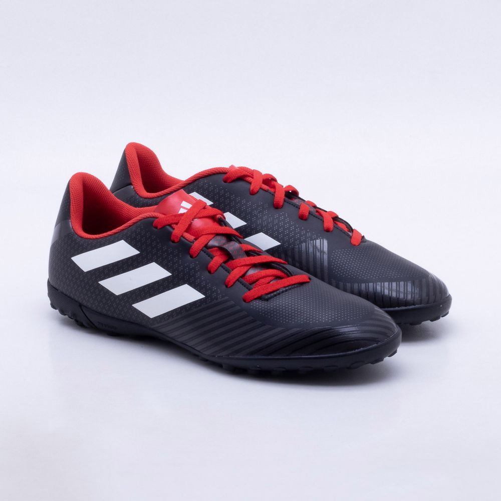 Chuteira Society Adidas Artilheira III TF Preto e Vermelho - Gaston -  Paqueta Esportes cb3dd1c65e74a
