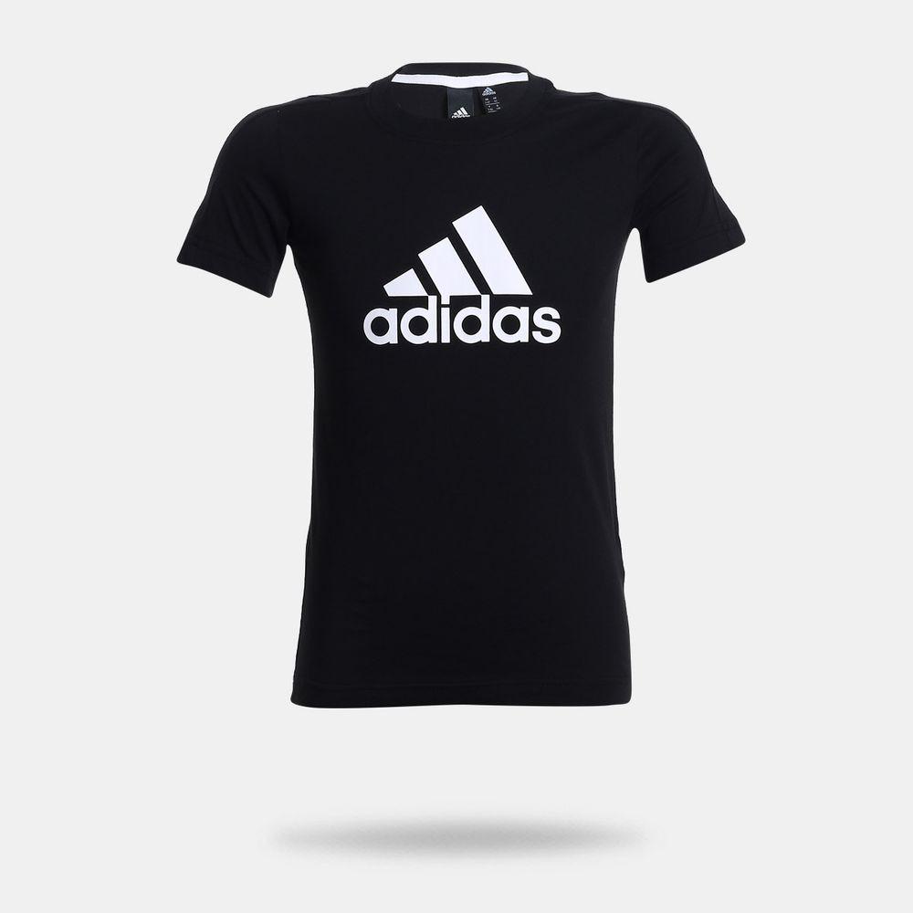 c60f2ec89823f Camiseta Adidas Essentials Logo Preta Infantil Preto - Gaston ...