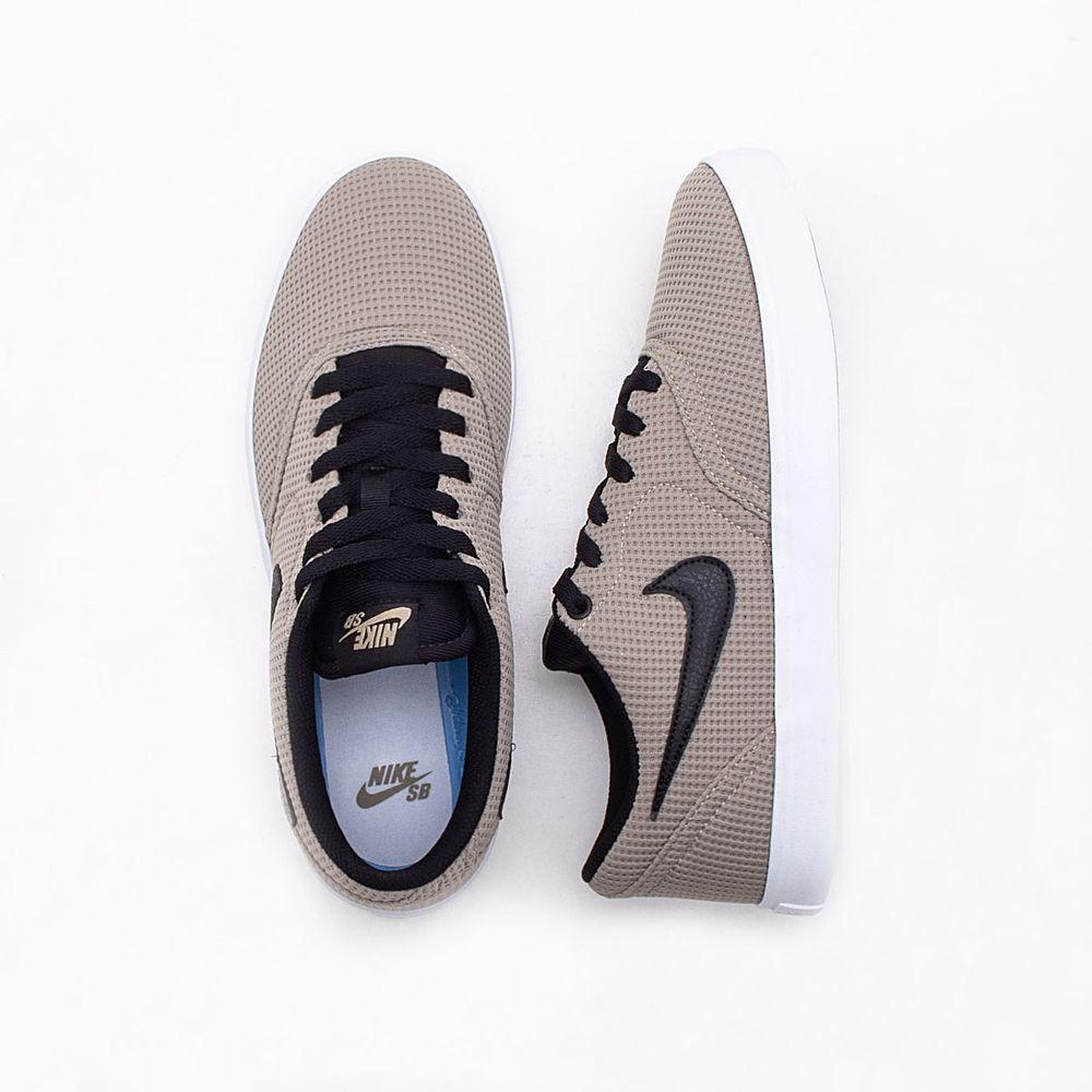 Tênis Nike SB Check Solar Canvas Bege Masculino Bege e Preto ... c0a75cb9e3526