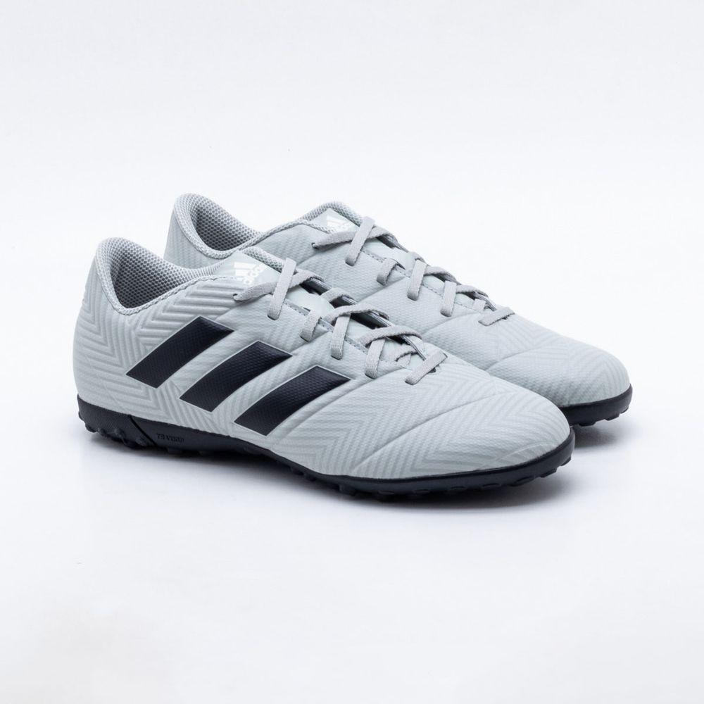 244ba7f2e0 Chuteira Society Adidas Nemeziz Tango 18.4 TF Cinza e Preto - Gaston -  Paqueta Esportes