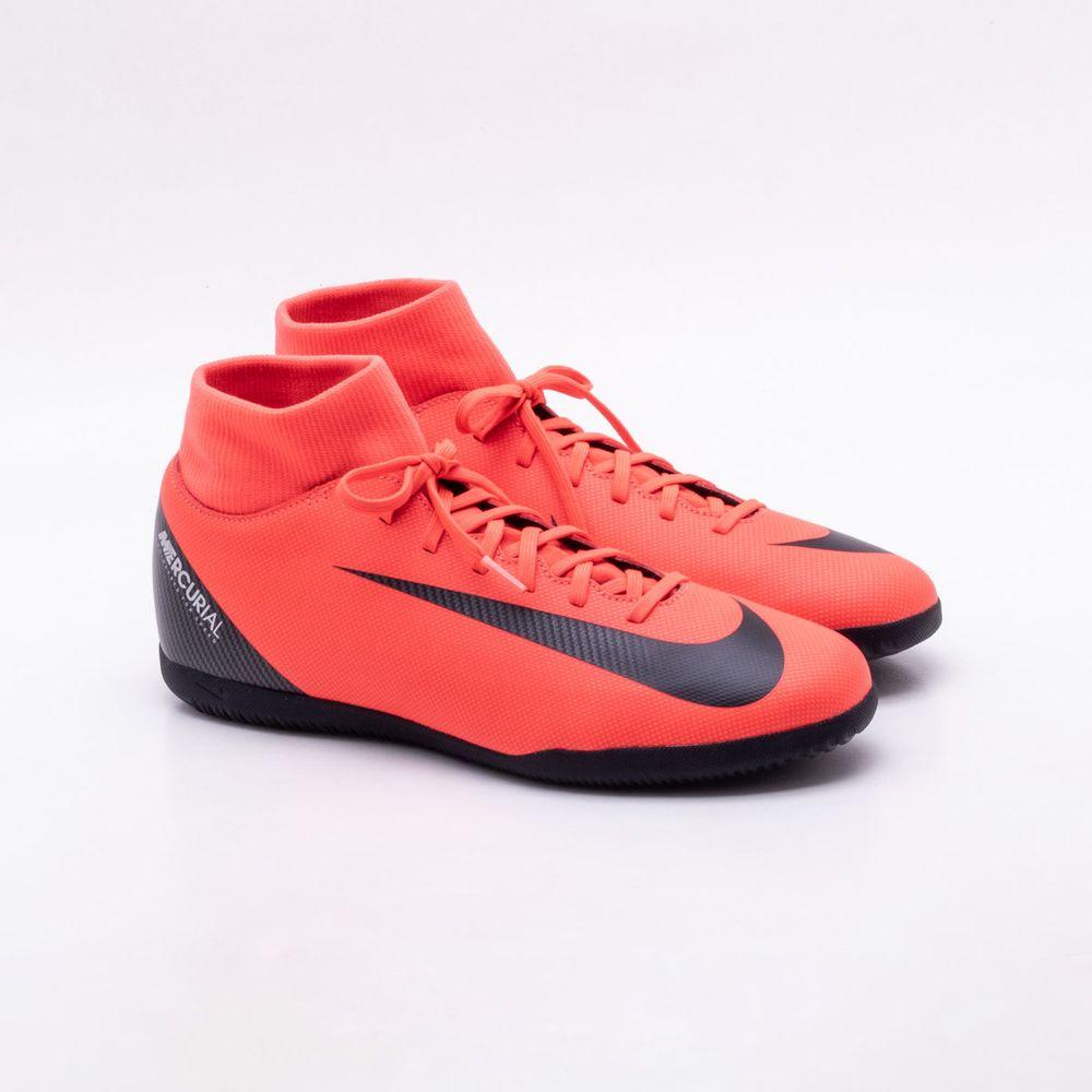 4a995d8290505 Chuteira Futsal Nike Mercurial CR7 Superfly 6 Club IC Vermelho ...