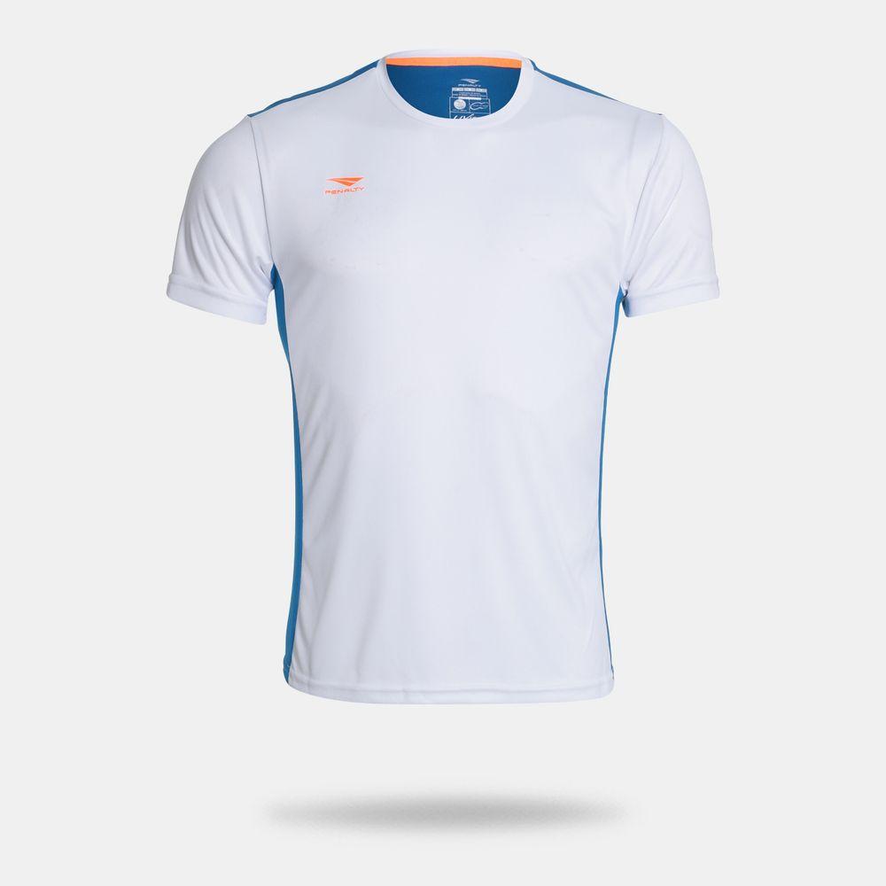 Camisa Penalty Storm VII Branca Masculina Branco e Azul - Gaston ... 9ebc25e6bb508