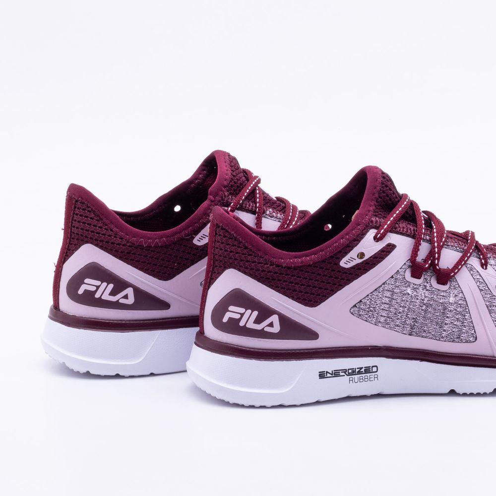 16b220fd3b4 Tênis Fila Eternity Feminino Rosa e Vinho - Gaston - Paqueta Esportes