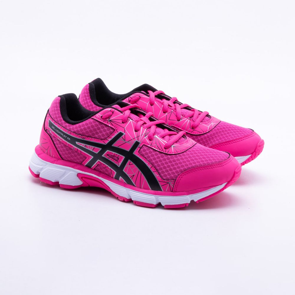 172667d4bf4 Tênis Asics Gel Light Play 4A Infantil Rosa - Gaston - Paqueta Esportes