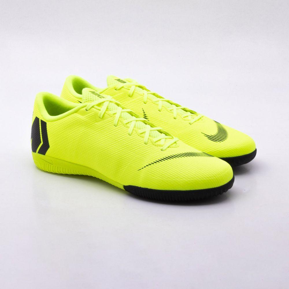 52a30acd80 Chuteira Futsal Nike MercurialX Vapor 12 Academy IC Amarelo - Gaston ...