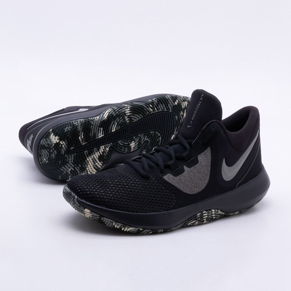 Tênis Nike Nike Tênis Air Precision II Masculino Preto e Cinza Gaston  Gaston a137e7 ee495d43f37ff