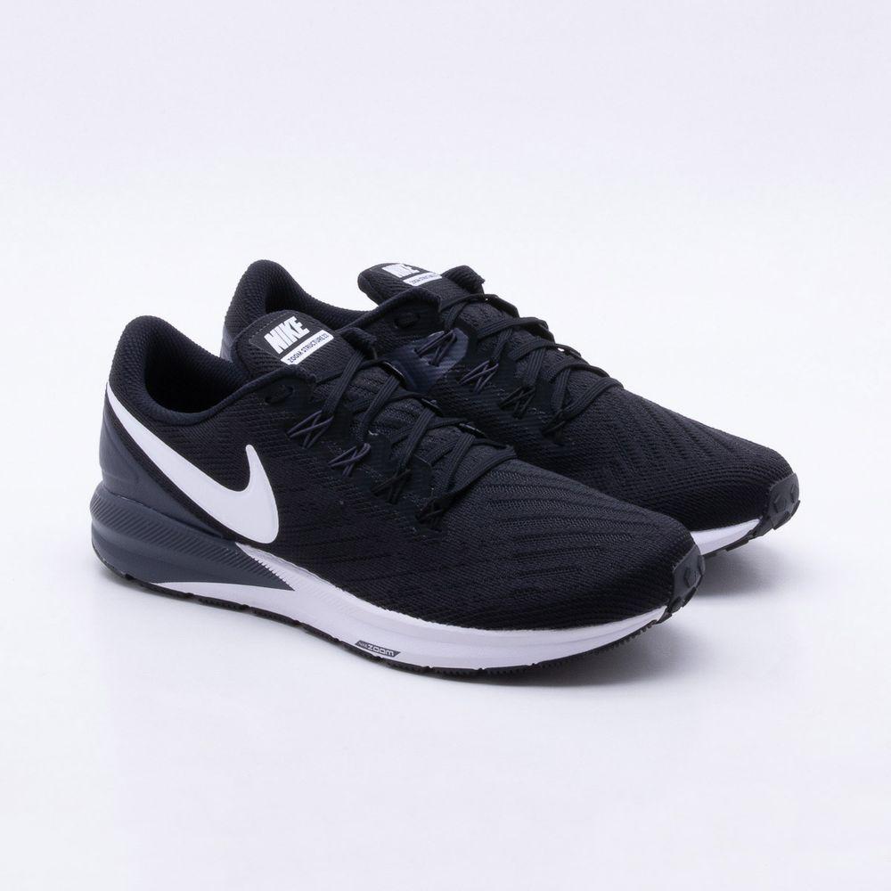 Tênis Nike Air Zoom Structure Masculino Preto e Branco - Gaston ... a75876d78aecc