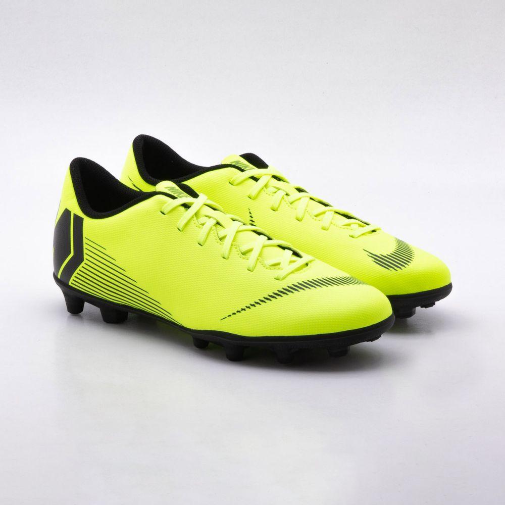 e30810a88cff6 Chuteira Campo Nike Mercurial Vapor 12 Club FG Amarelo - Gaston ...