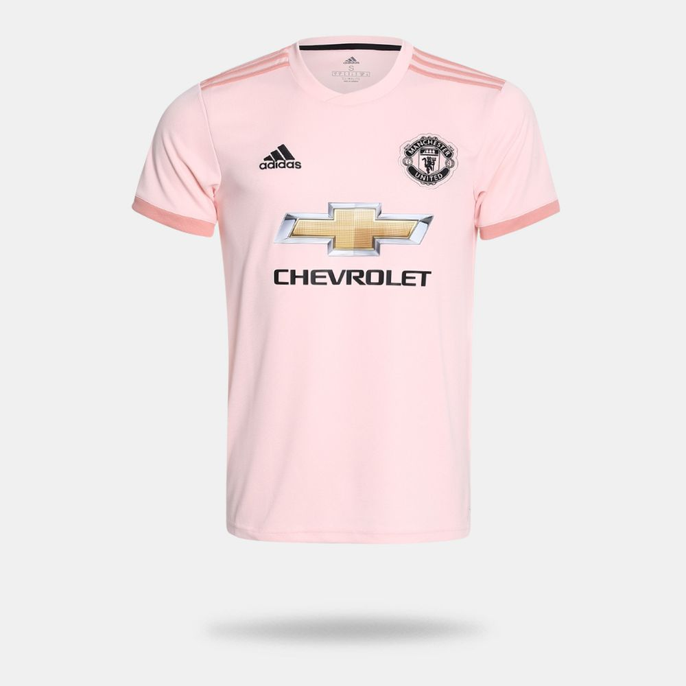 Camisa Adidas Manchester United 2018 2019 II Torcedor Rosa Masculina ... 5a67697fdbf39