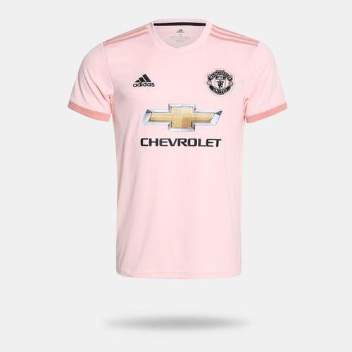 a2f116b473 Camisa Adidas Manchester United 2018 2019 II Torcedor Rosa Masculina