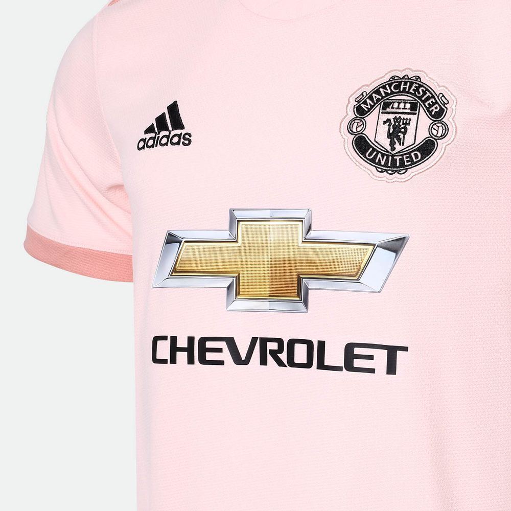 Camisa Adidas Manchester United 2018 2019 II Torcedor Rosa Masculina Rosa -  Gaston - Paqueta Esportes b666befe147e5