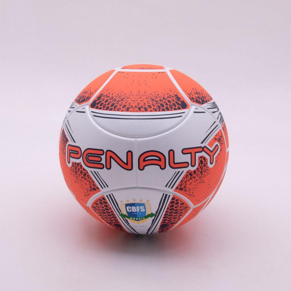 a28512b50773b Bola Futsal Penalty Max 400 VIII Branco e Coral - Gaston - Paqueta ...