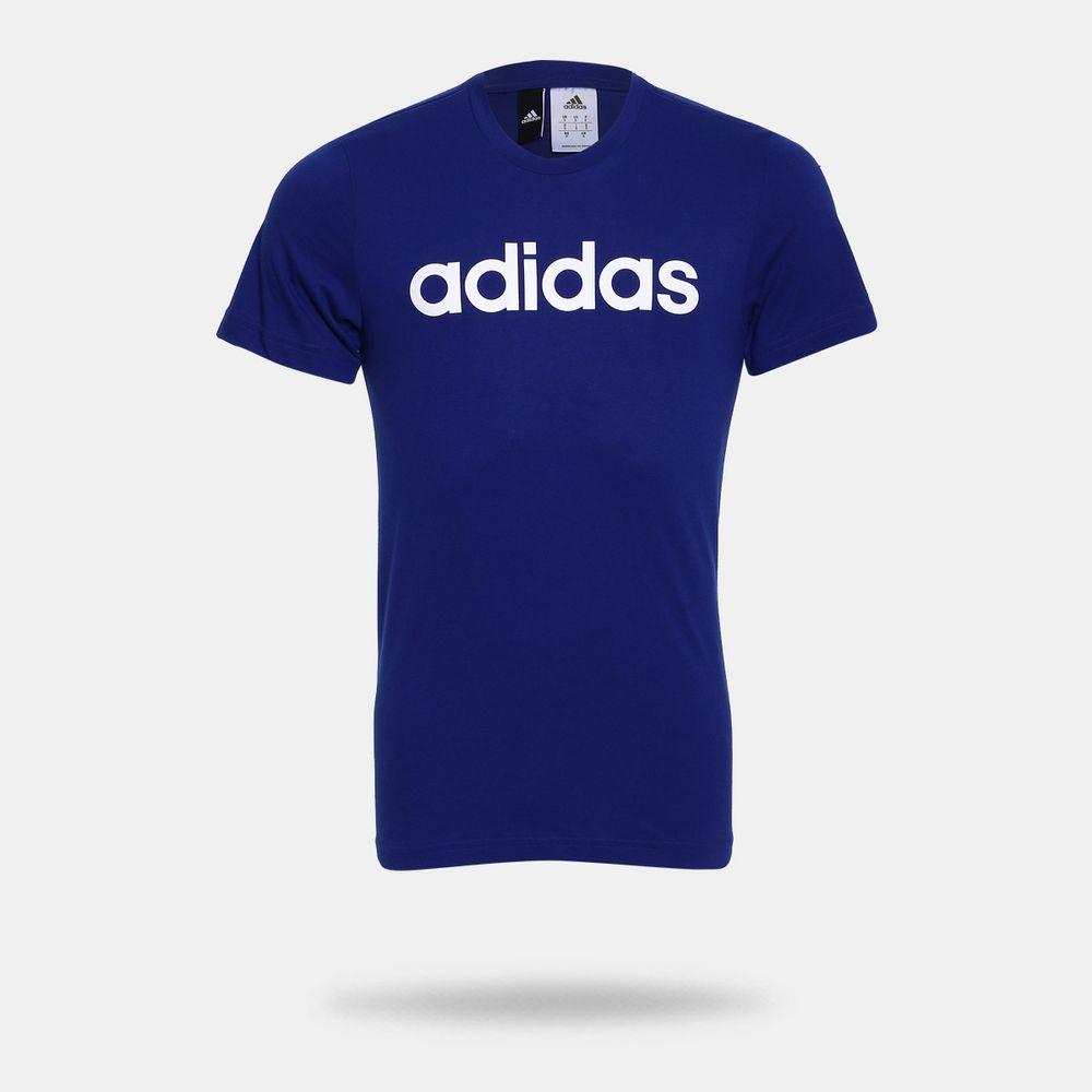 Camiseta Adidas Logo Azul Masculina Azul - Gaston - Paqueta Esportes ace31d602a4f8
