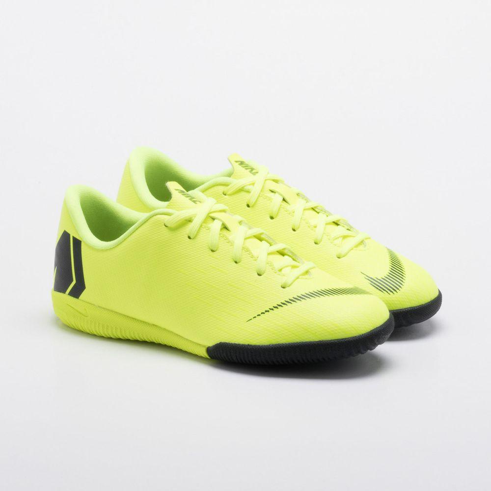 1136ad7e84 Chuteira Futsal Nike MercurialX Vapor 12 Academy IC Infantil Amarelo ...