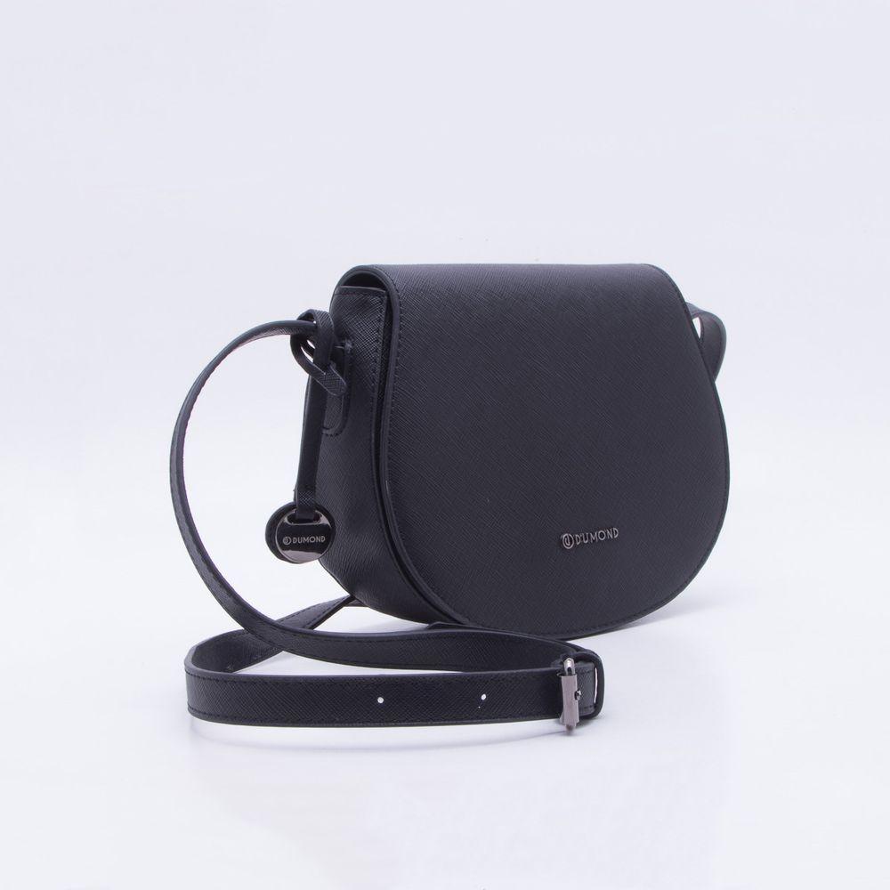 02604193a Bolsa Shoulder Bag Preta Dumond Preto - Gaston - Paqueta Calçados