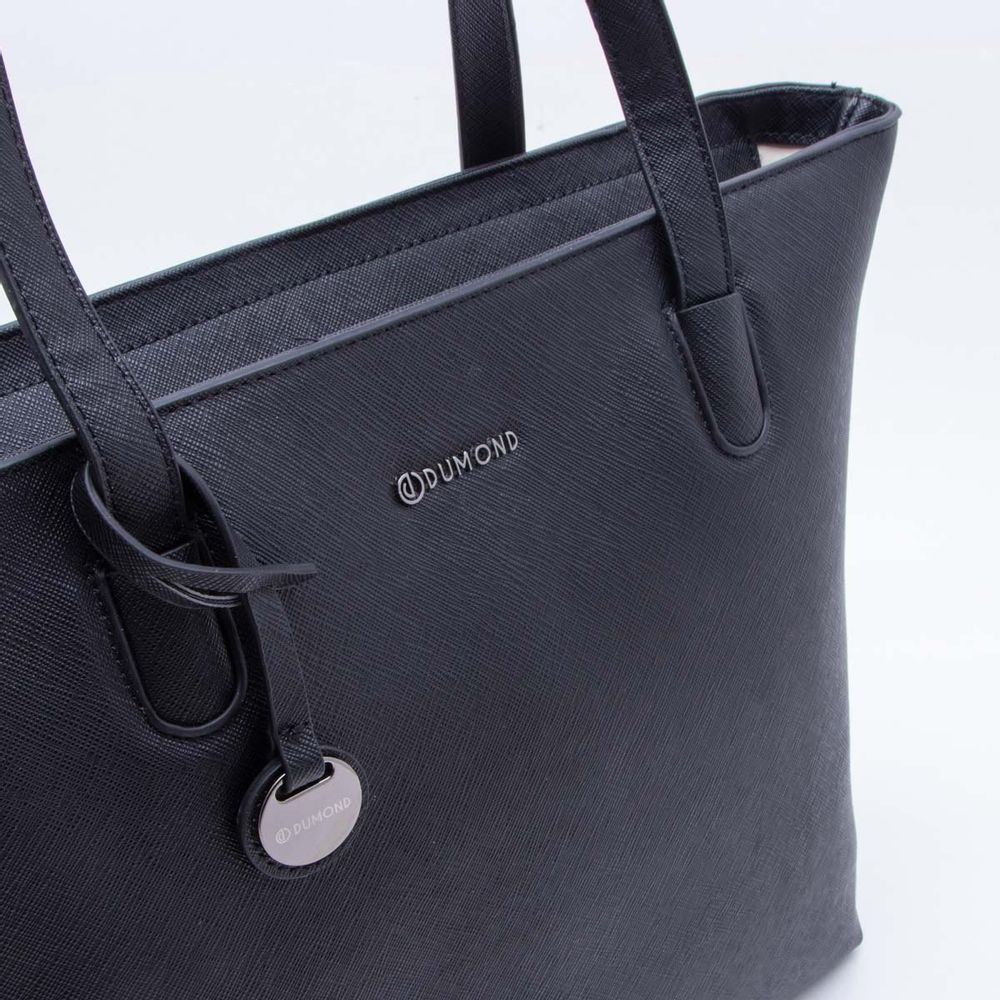 e758303347 Bolsa Shopper Preta Dumond Preto - Gaston - Paqueta Calçados