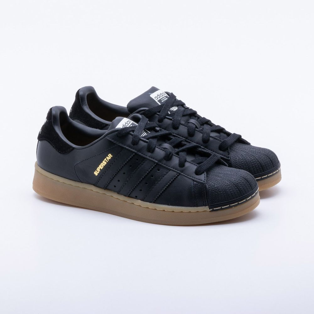 6df598ee9ab Tênis Adidas Superstar Originals Preto Feminino Preto - Gaston ...
