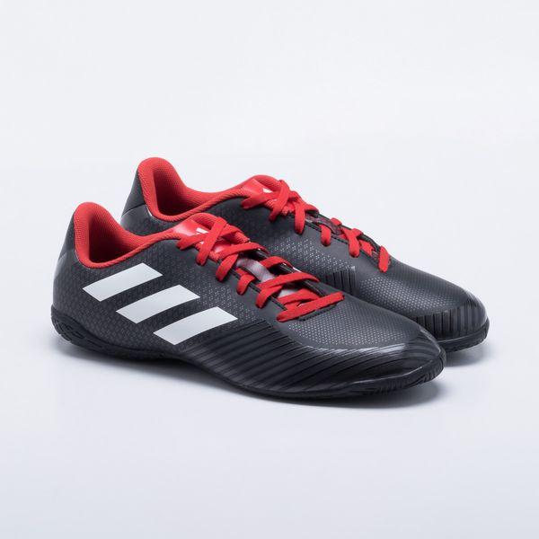 Chuteira Futsal Adidas Artilheira III IN Preto e Vermelho - Gaston - Gaston 4cfb02a8b7a