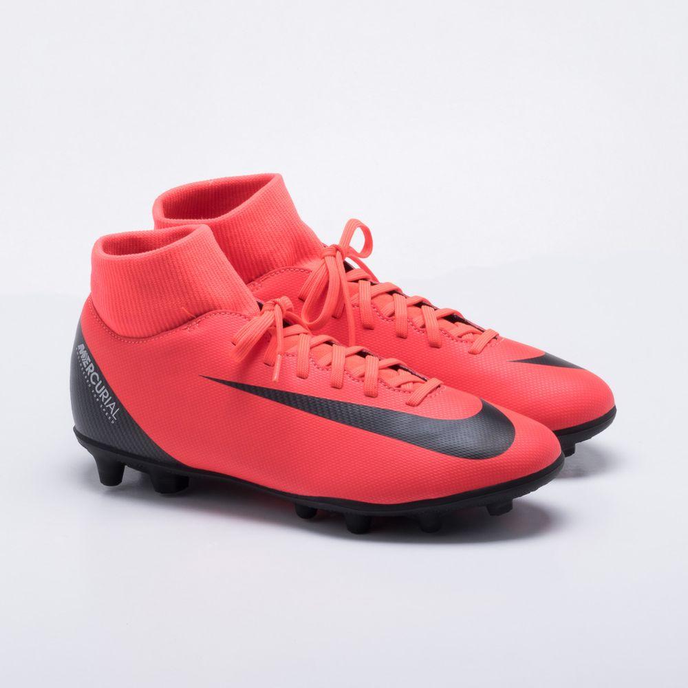 12eeb0cf4d847 Chuteira Campo Nike Mercurial CR7 Superfly 6 Club Vermelho - Gaston ...