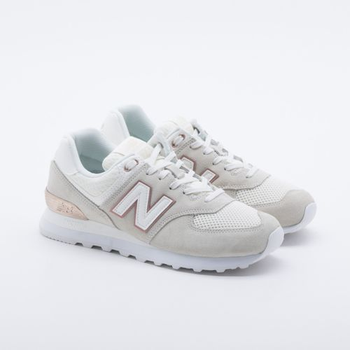 7d1f379994942 Tênis New Balance 574 Off White Feminino