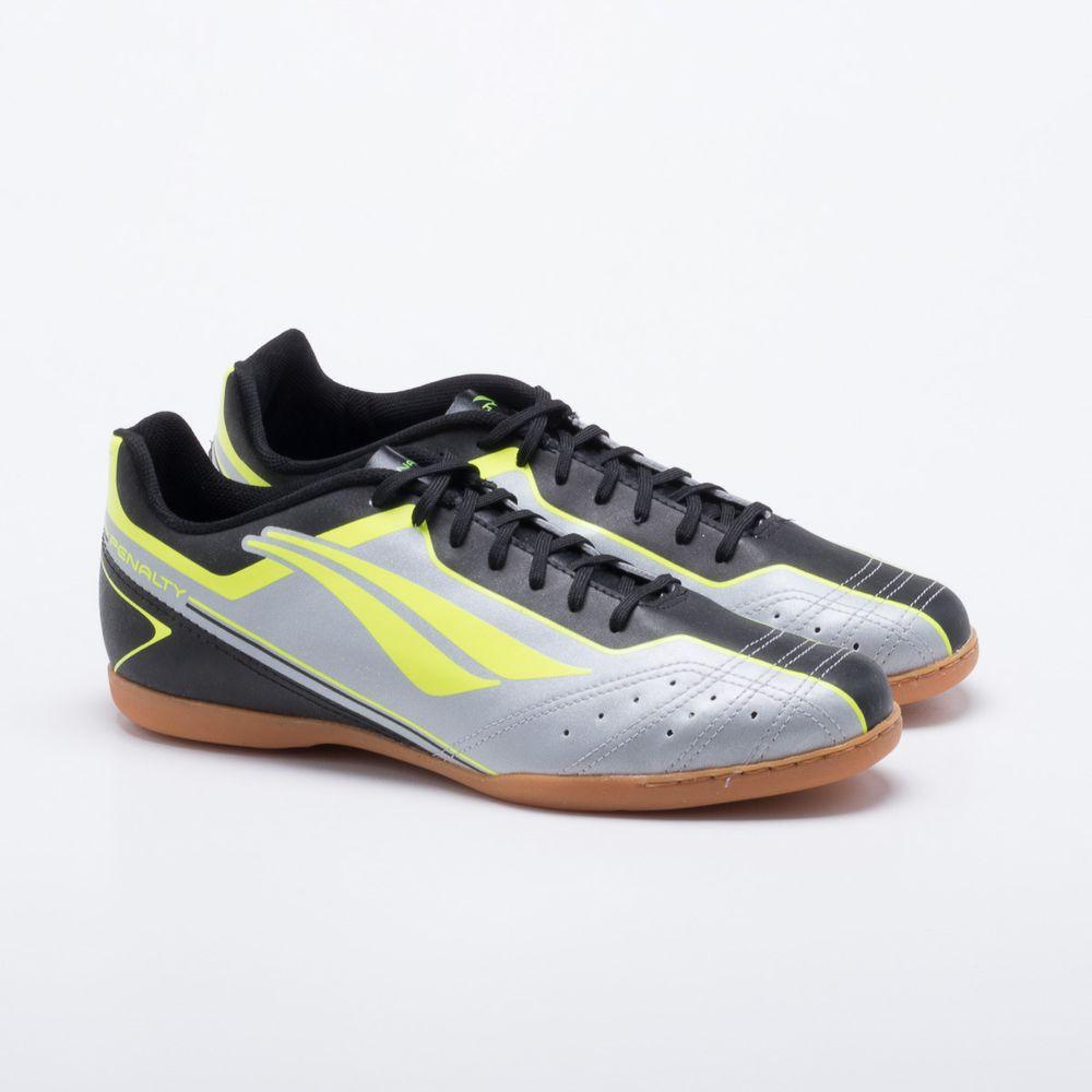 Chuteira Futsal Penalty Matis VI Cinza e Preto - Gaston - Paqueta ... 59927f0284174