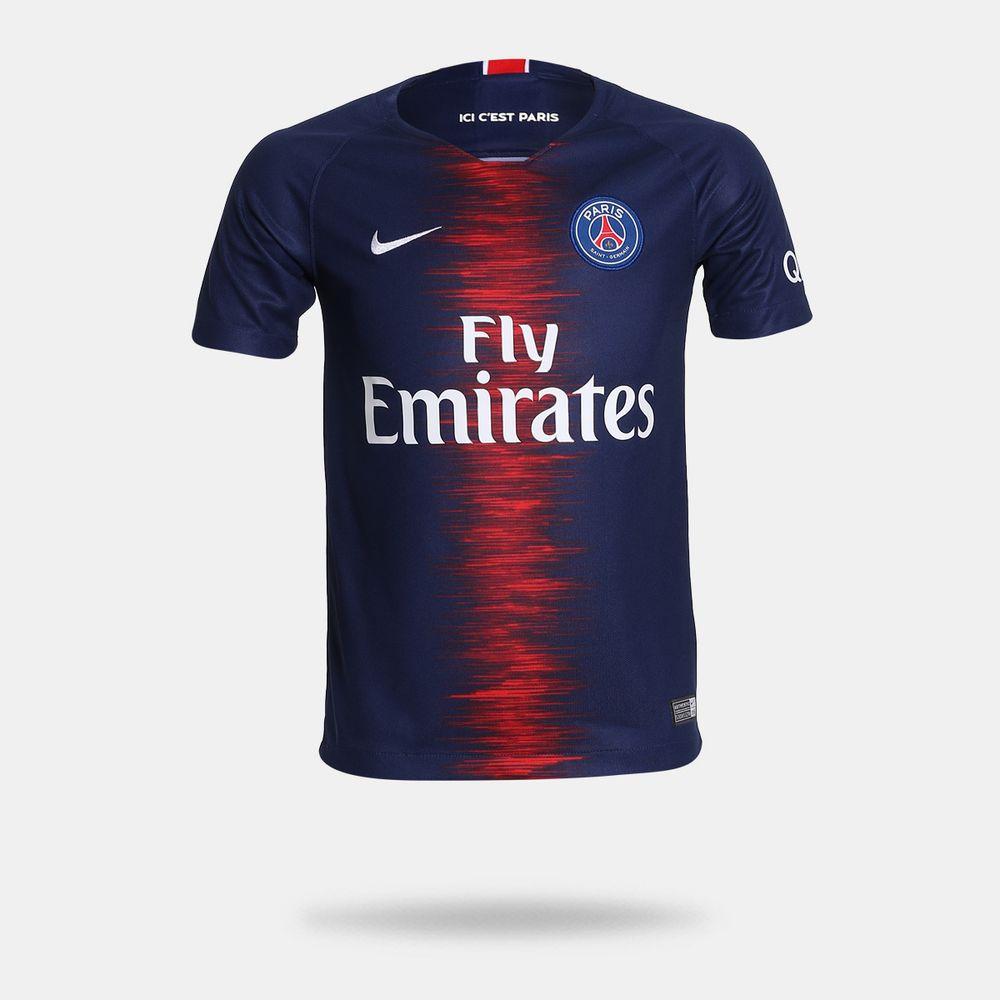 b5e35e3d1b Camisa Nike PSG 2018 2019 I Torecdor Azul Infantil Azul - Gaston ...
