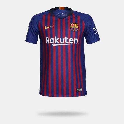 Camisa Nike Barcelona 2018 2019 I Torcedor Azul Infantil 4029e430c3b09