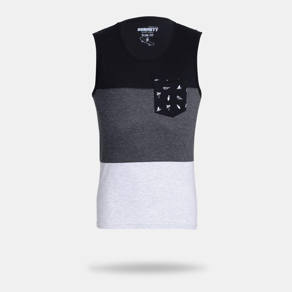 Camiseta Regata Burnett Preta Masculina Preto - Gaston - Paqueta ... 78ab0c5a1f98e
