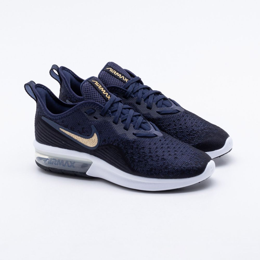 d13dad7db Tênis Nike Air Max Sequent 4 Feminino Marinho - Gaston - Paqueta ...