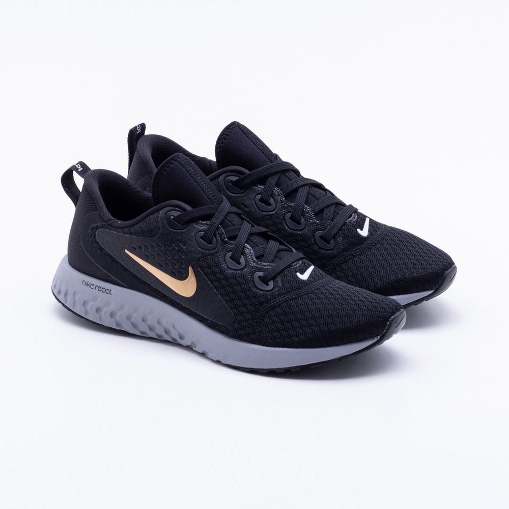 78432425fd4 Tênis Nike Run Legend React Feminino Preto e Cinza - Gaston ...