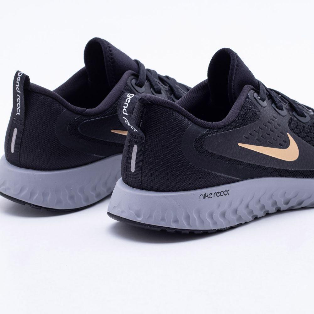 d76b9efd03 Tênis Nike Run Legend React Feminino Preto e Cinza - Gaston ...