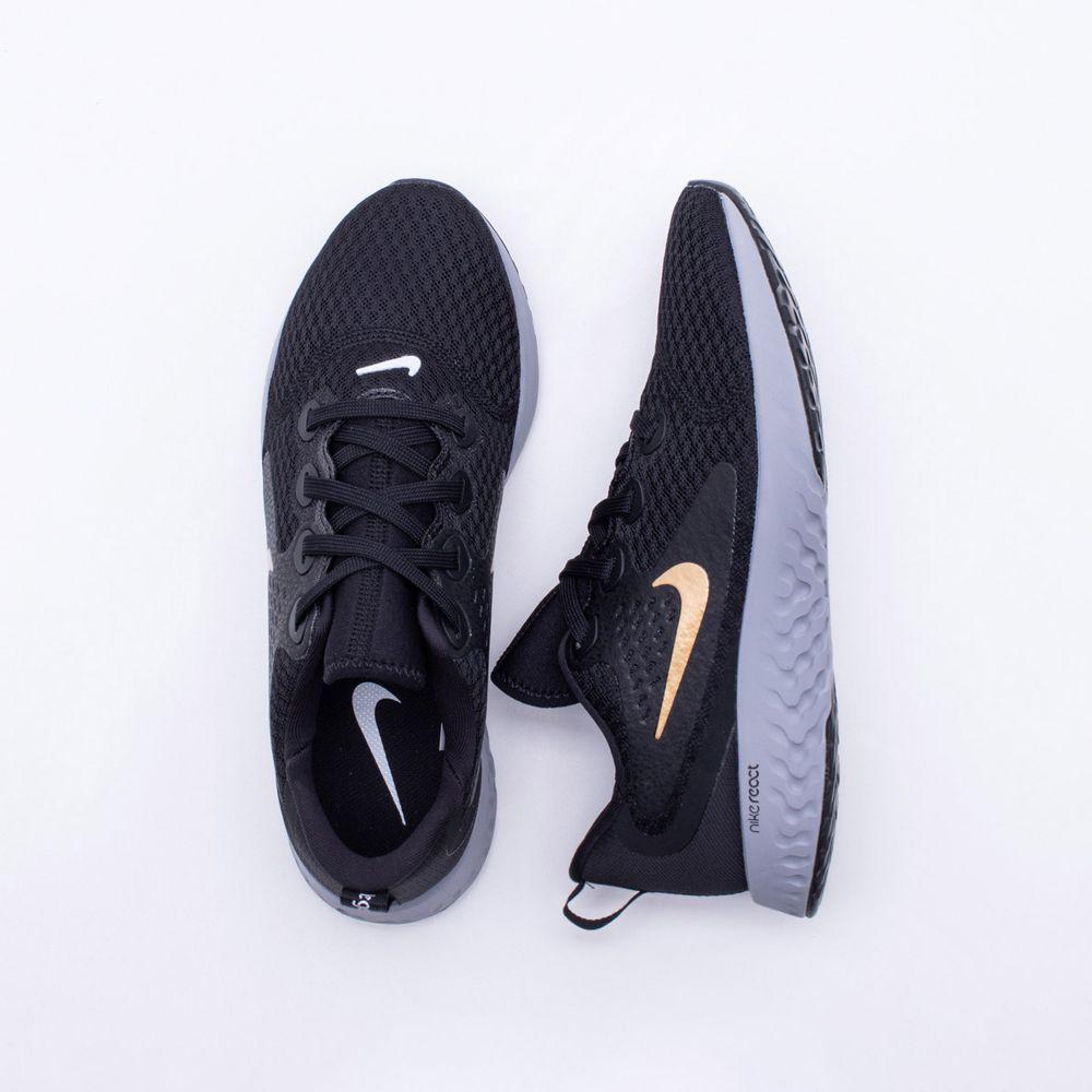 Tênis Nike Run Legend React Feminino Preto e Cinza - Gaston - Paqueta  Esportes bbc28f8cc549a