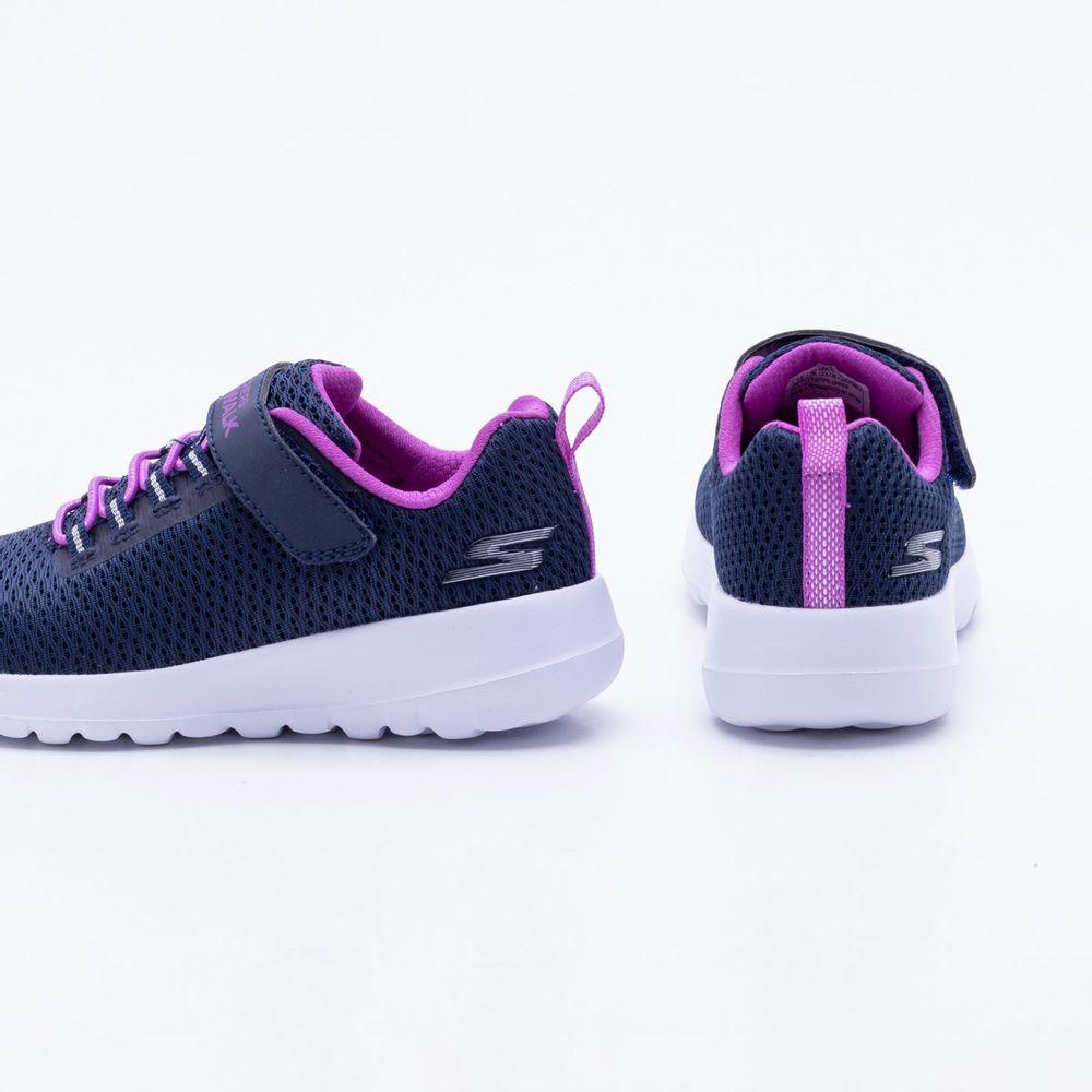 1c15e433b9b Tênis Skechers Infantil Go Walk Joy Paradise Azul Azul e Rosa ...